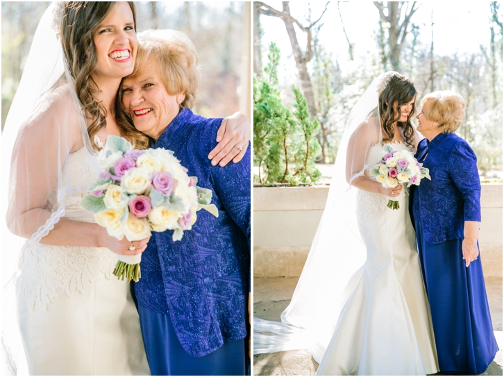 bride and grandmother shot