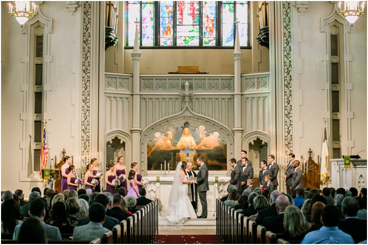 Peachtree Christian Church Winter Wedding