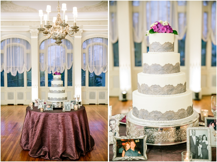 Lace gray and white wedding cake, Cake Hagg