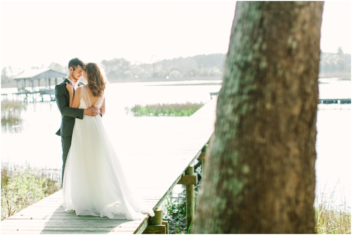 Romantic Bride and Groom Photos River Oaks Charleston