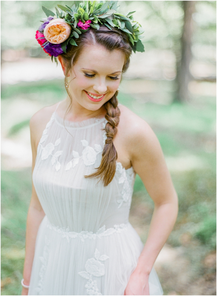 Bride Film Photos with flower crown