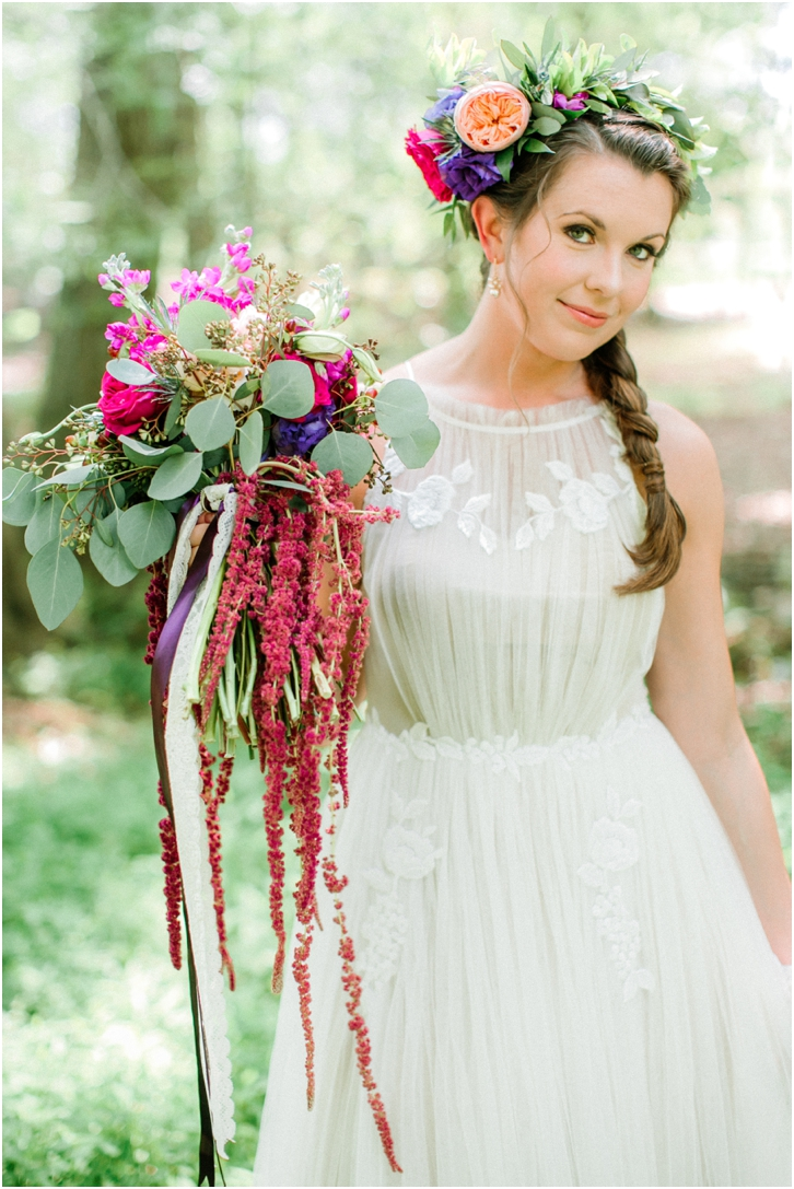 Colorful Organic Bridal Bouquet
