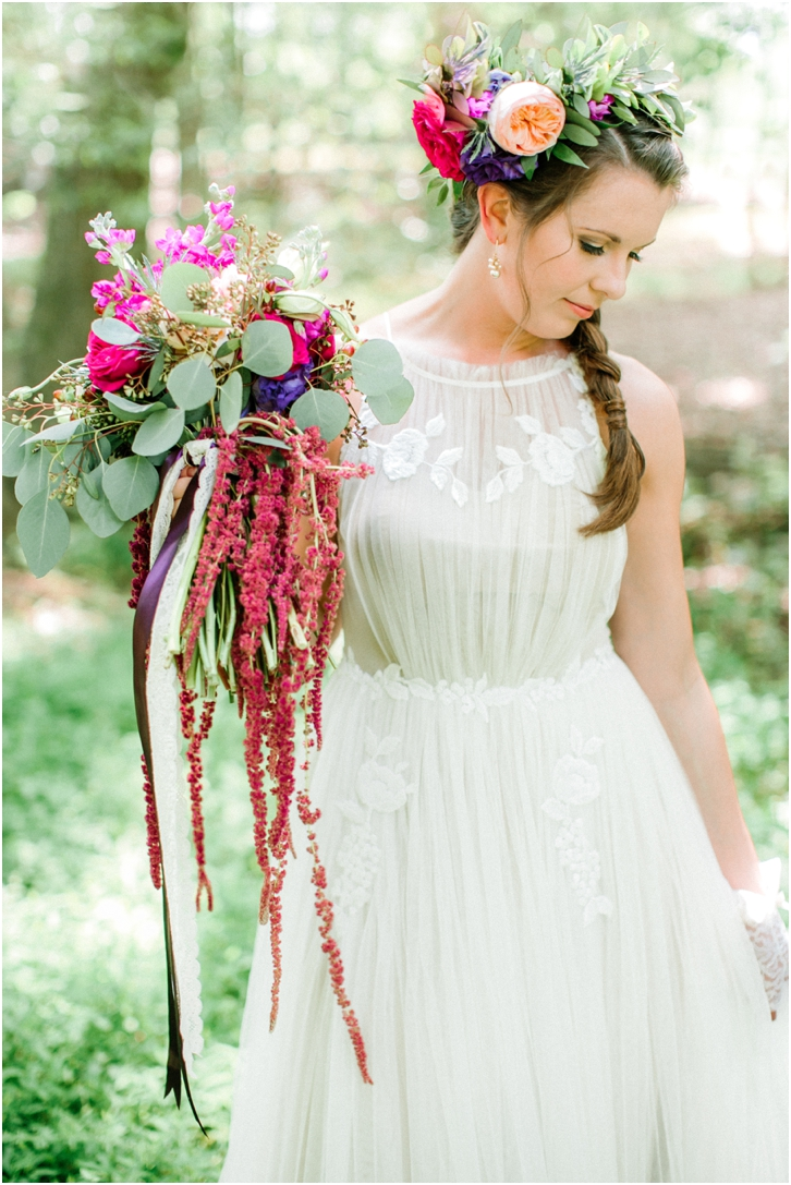 Organic Colorful Wedding Bouquet