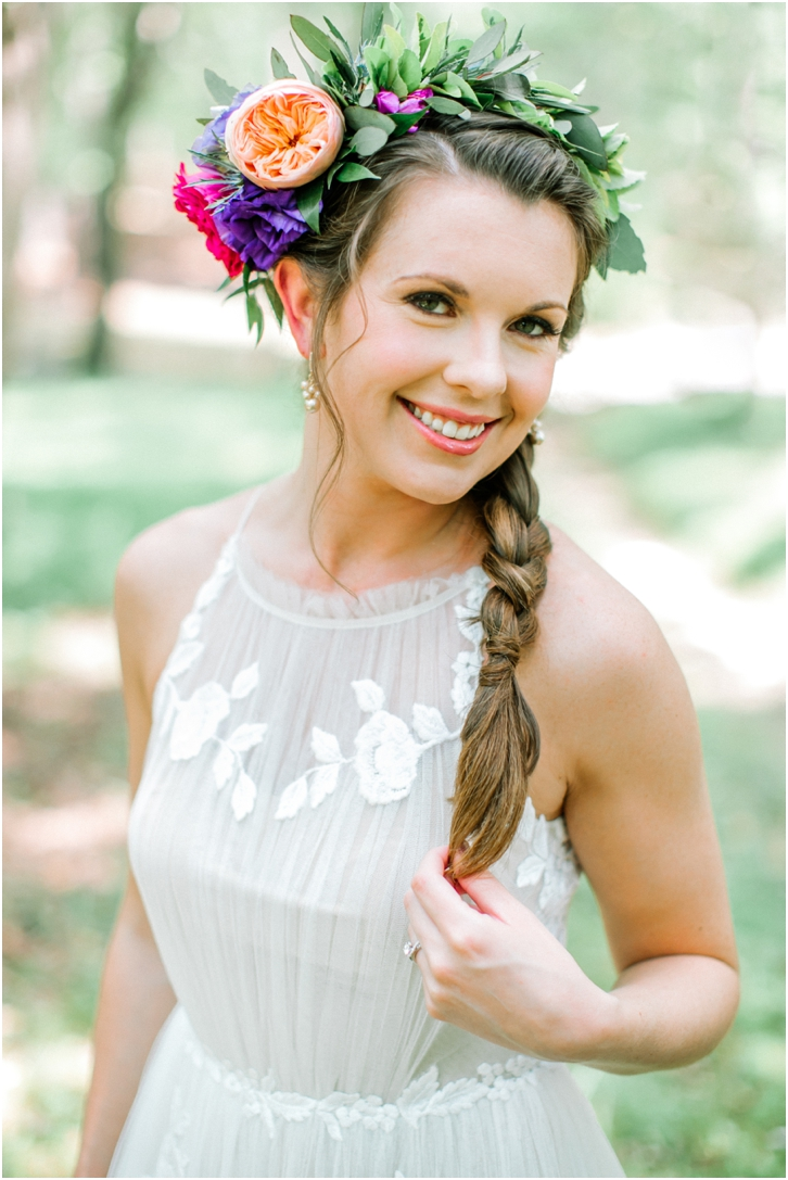 Bride with Braid and flower crown