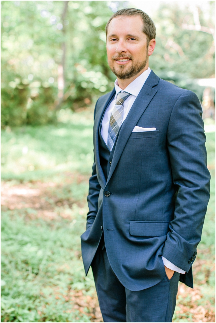 Fitted Navy Groom Suit