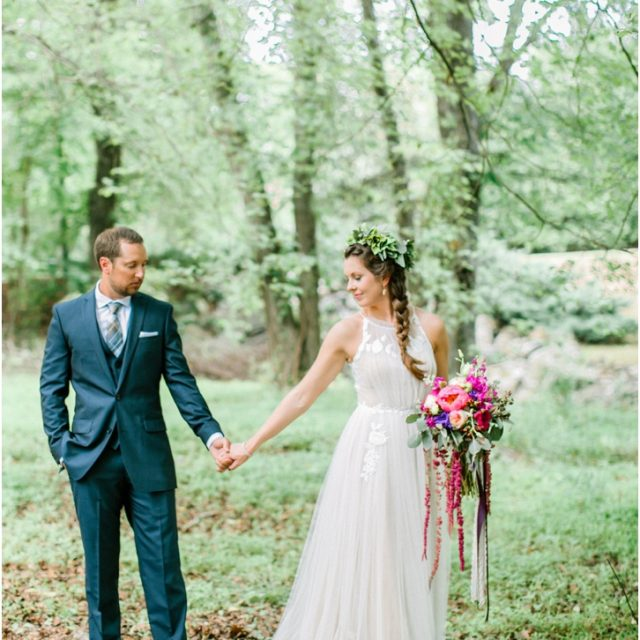 Organic Romantic Bride and Groom Photos
