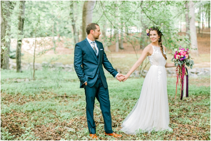 Beautiful Bride and groom photos in the woods