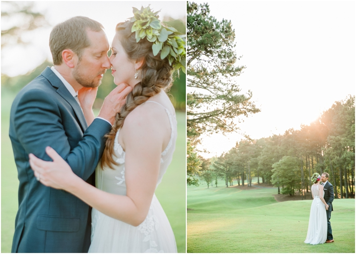 Romantic Sunset Bride and Groom Photos