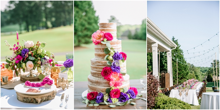 Naked Cake with Colorful Flowers