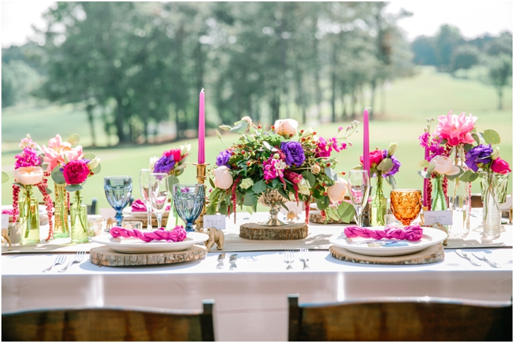 Colorful Organic Reception Decorations