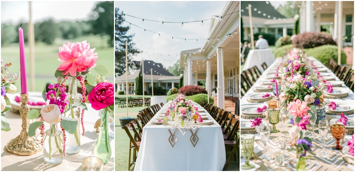 Colorful Organic Reception Decor