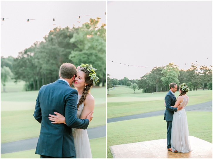 First Dance Outdoor Wedding Reception