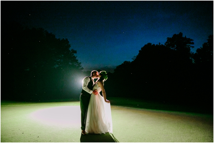 Night Photos of Bride and Groom