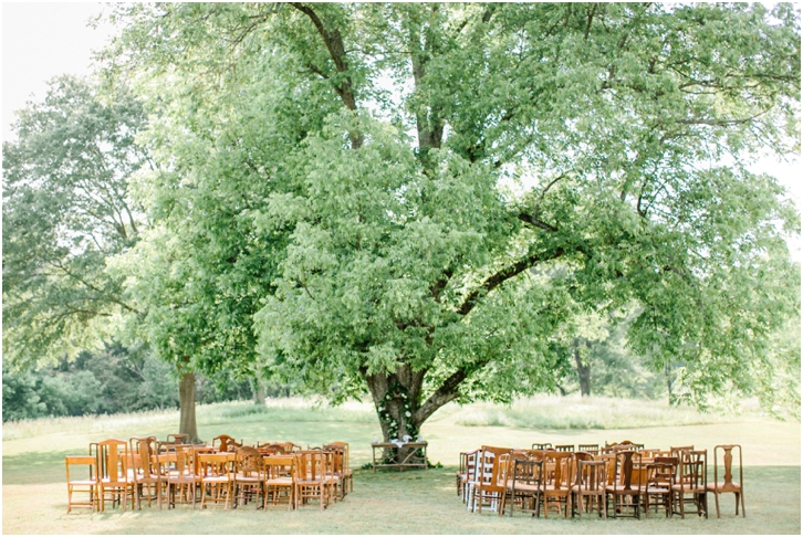 Outdoor Wedding Ceremony at Vinewood Plantation