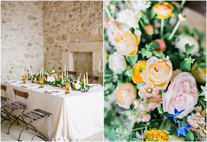 Peach, Blush, and Green Rustic European Wedding Decor