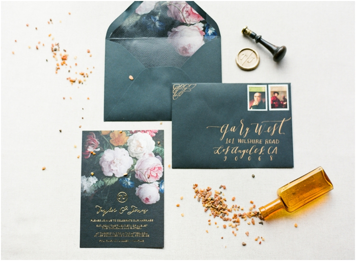 Old World Elegant Wedding Invitation Suite