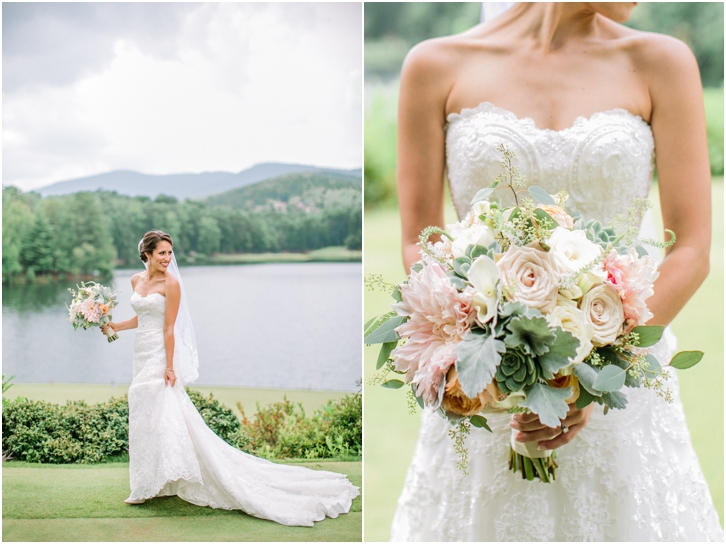 Bride Photos Big Canoe Mountain wedding