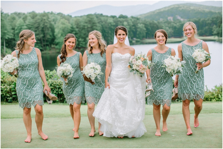 Bridesmaids Big Canoe Wedding