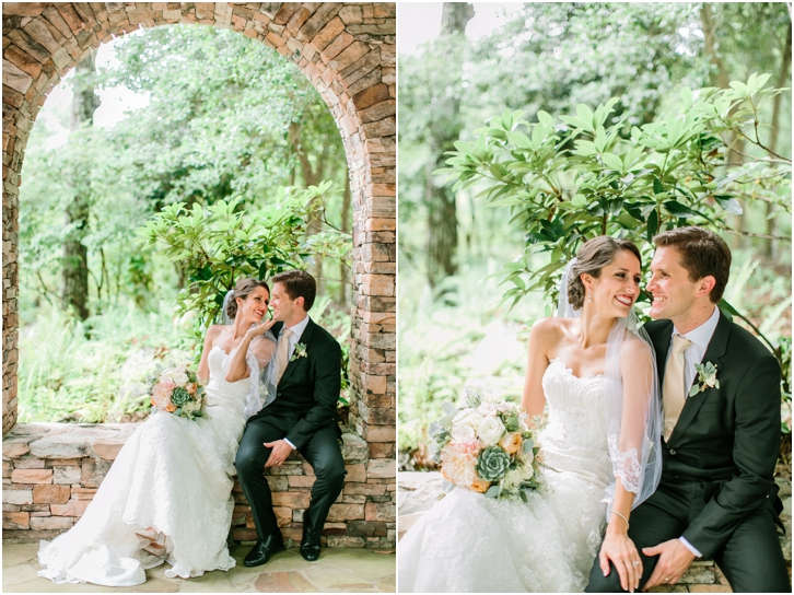 Romantic Bride and Groom Mountain Wedding Photos