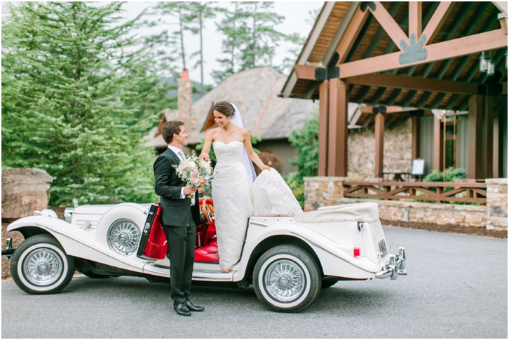 Wedding Photos with Vintage Car Big Canoe