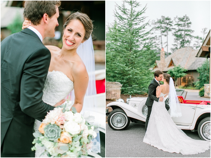 Wedding Photos with vintage car