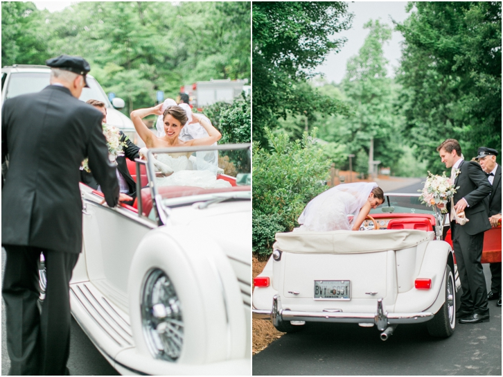 Vintage Car at Big Canoe Georgia Wedding