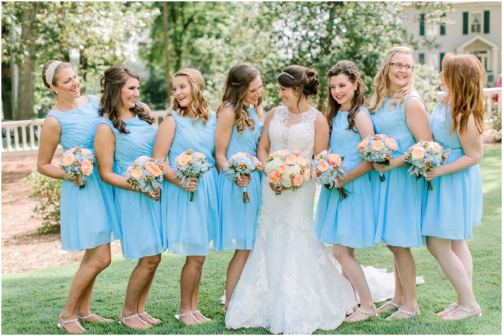 Blue Bridesmaid Dresses Primrose cottage