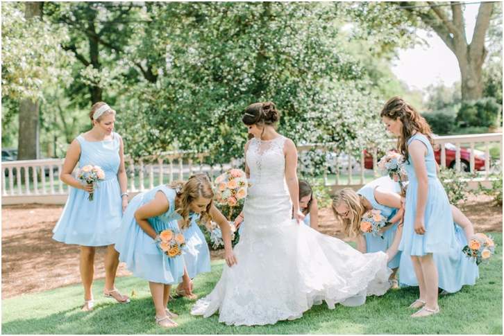 Bride with Bridesmaids at Primrose Cottage