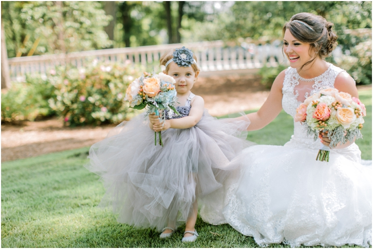 Gray Flower girl Dress with lots of tulle Primrose Cottage