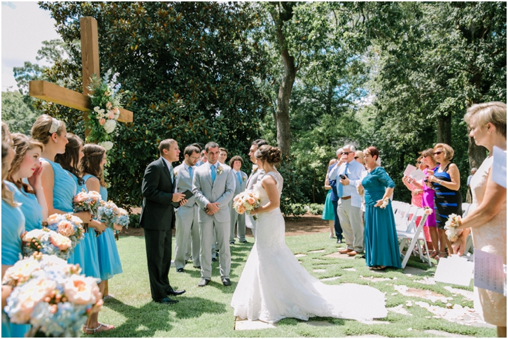 Outdoor Wedding Ceremony Georgia Primrose Cottage