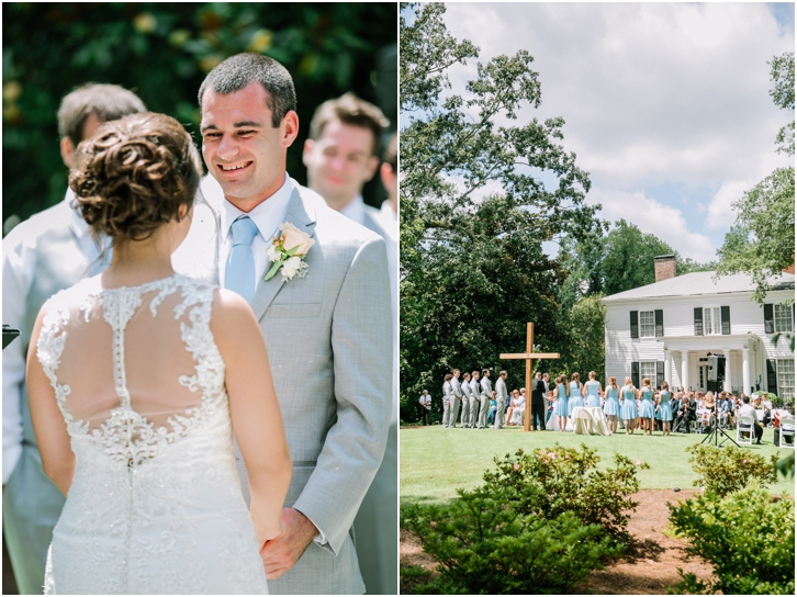 Outdoor Wedding Ceremony in Roswell Primrose Cottage