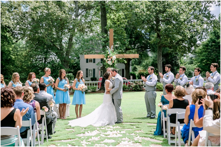 Outdoor Wedding Ceremony at Primrose Cottage