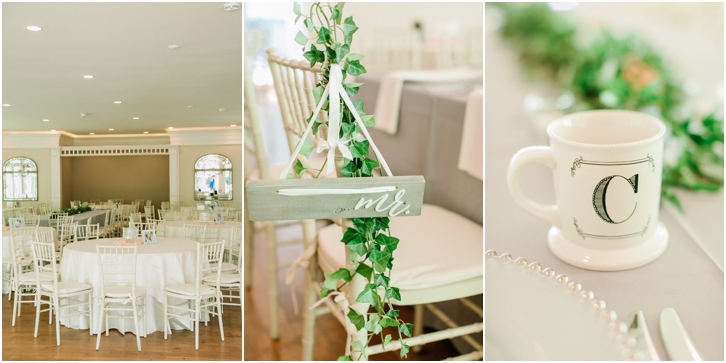 White and green Reception Decor Primrose Cottage Wedding 0054