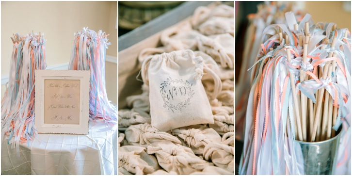 ribbons for wedding exit