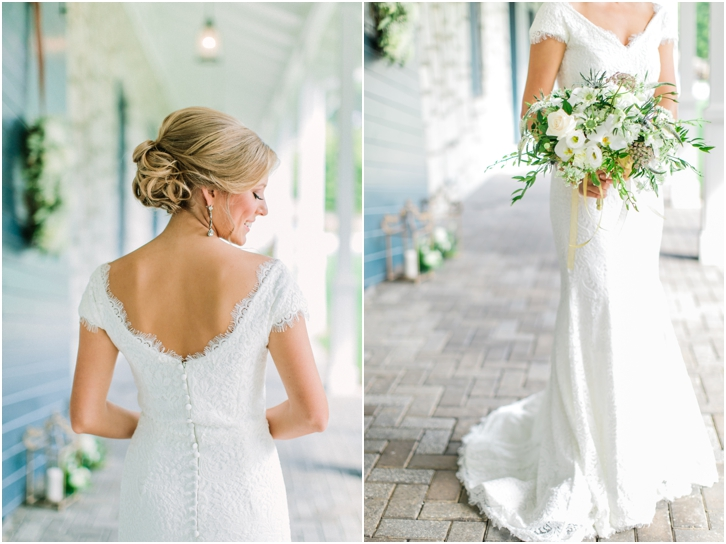 Pictures of the bride at Foxhall Resort Wedding Alta Moda Bridal