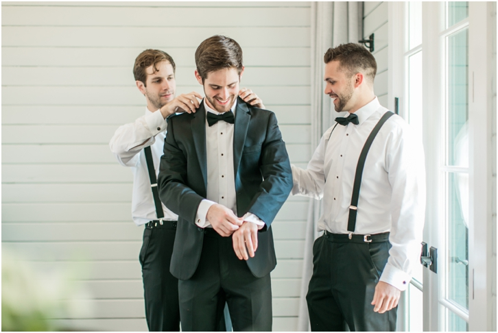 Groom with guys at foxhall Resort