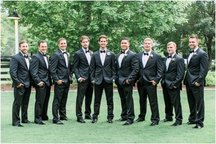 Groomsmen at Foxhall Resort