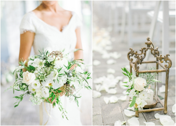 Gorgeous white and green organic Wedding Bouquet