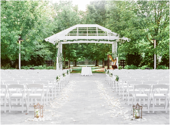 Romantic Outdoor Wedding Ceremony Atlanta Foxhall Resort