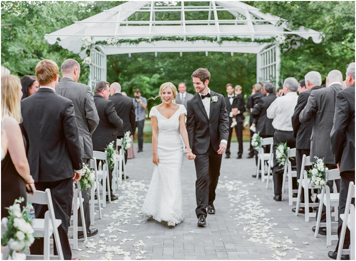 Bride and Groom Exit Foxhall Resort Wedding