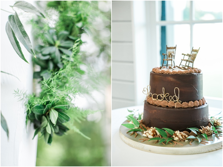 Grooms Cake with Rocking Chairs