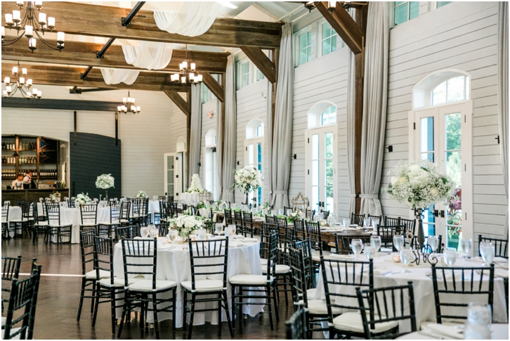 Elegant White and Green Reception Decor Foxhall Resort