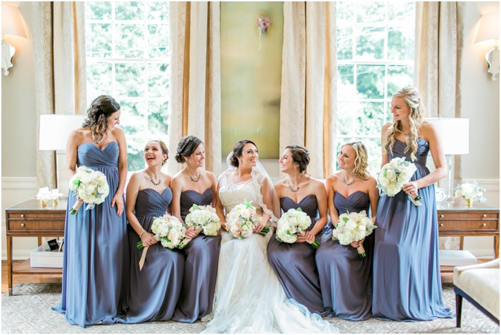 Bridesmaids at Estate Atlanta Fall Wedding