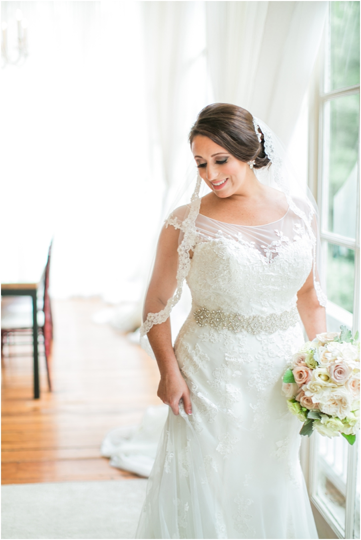 Bride at Estate Atlanta Fall Wedding
