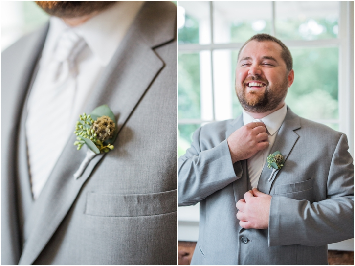 Groom Photos at Estate Atlanta Fall Wedding