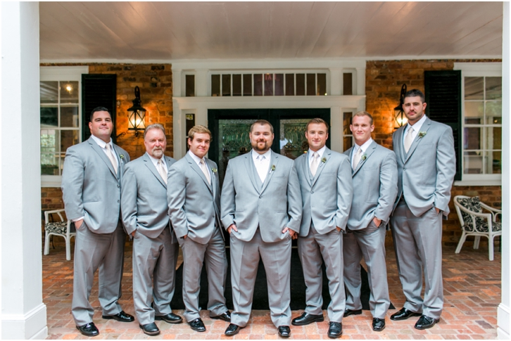 Groomsmen Estate Atlanta Fall Wedding