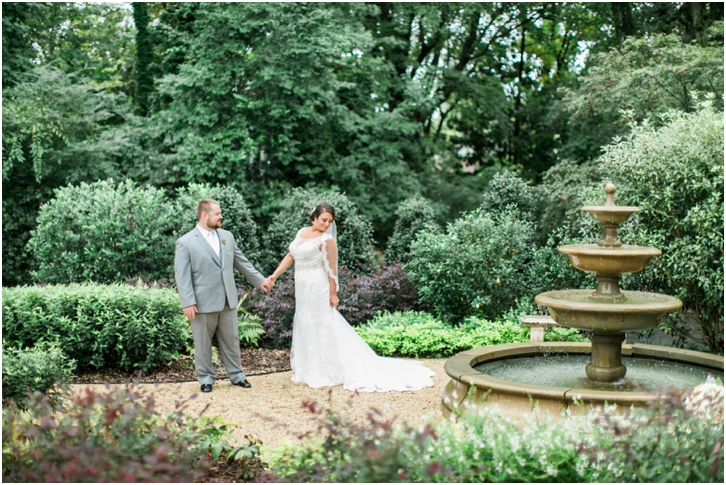 Bride and Groom at Estate Atlanta Fall Wedding