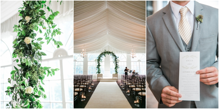 Wedding Ceremony at Estate Atlanta Fall Wedding