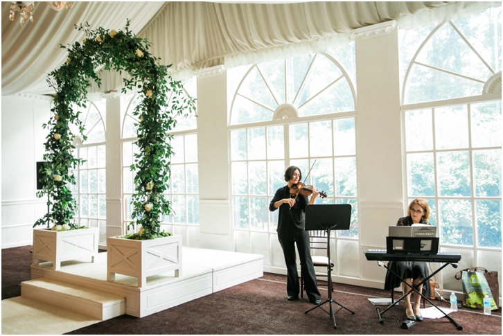 Elegant Indoor Wedding Ceremony Atlanta