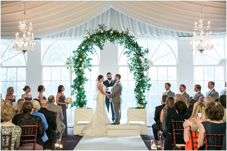 Indoor Wedding Ceremony Estate Atlanta